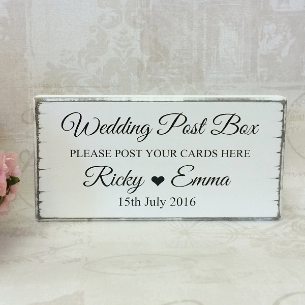Wedding Post Box Sign Please Post Your Cards Here