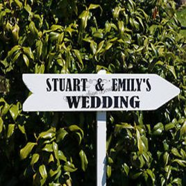 Floor-Standing-Directional-Sign-11-Wedding-Personalised-Names