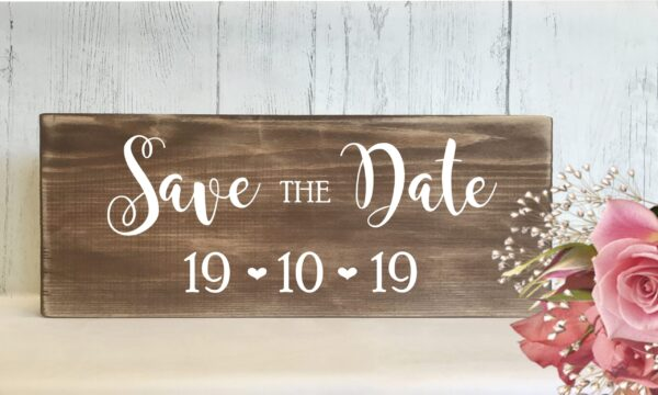 save date sign