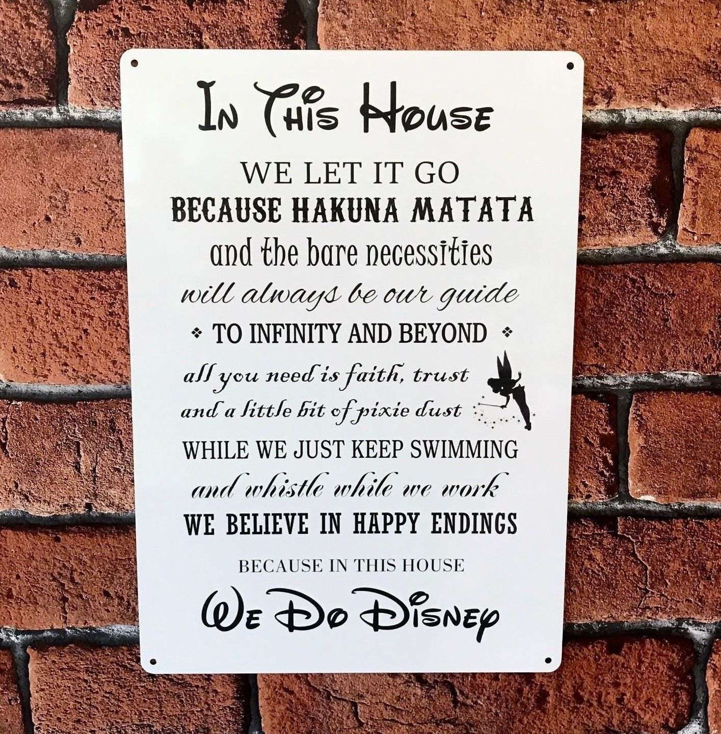 Disney Quotes In This House We Do Disney Hakuna Matata Tinkerbell