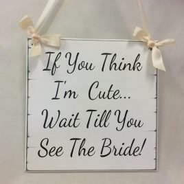 If You Think I'm Cute Wait Till You See The Bride!