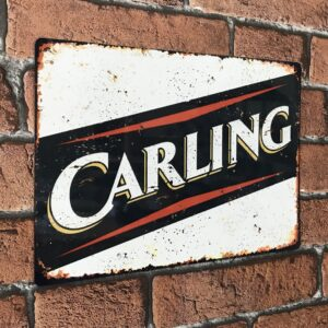 carling lager metal sign