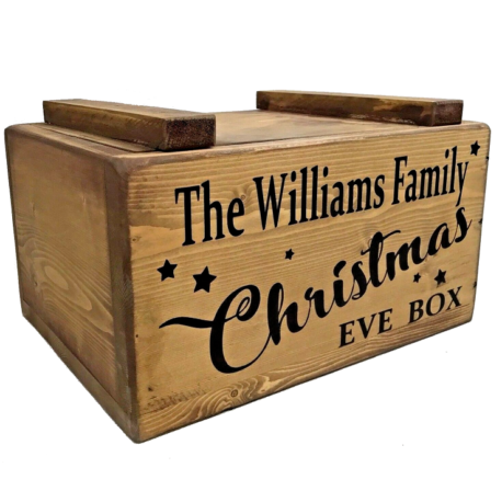 Christmas eve box personalised with lid