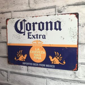 Corona Extra Lager Sign Metal Beer Advertisement