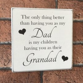 wooden dad sign fathers day gift