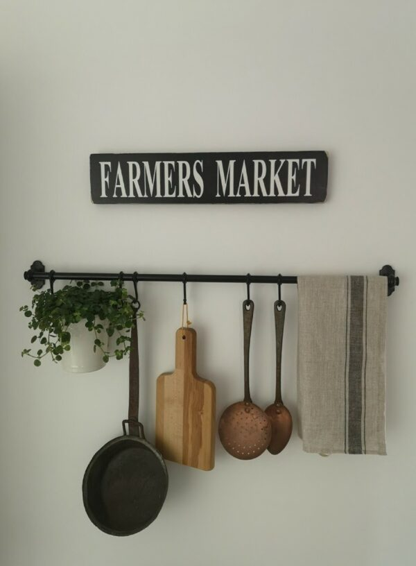 Farmers Market Wooden Kitchen Sign