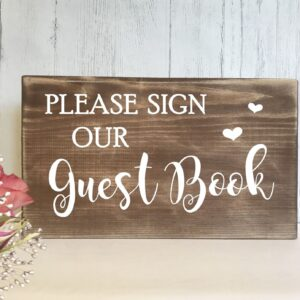 wedding guest book sign rustic wooden