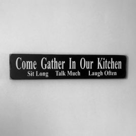 Wood kitchen sign