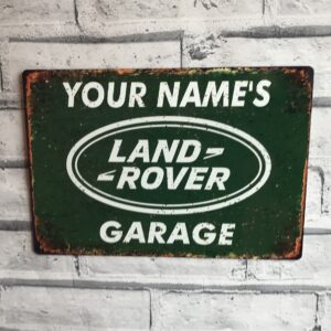Land Rover garage sin peronalised