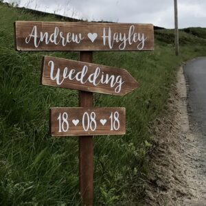 wedding signpost personalised sign