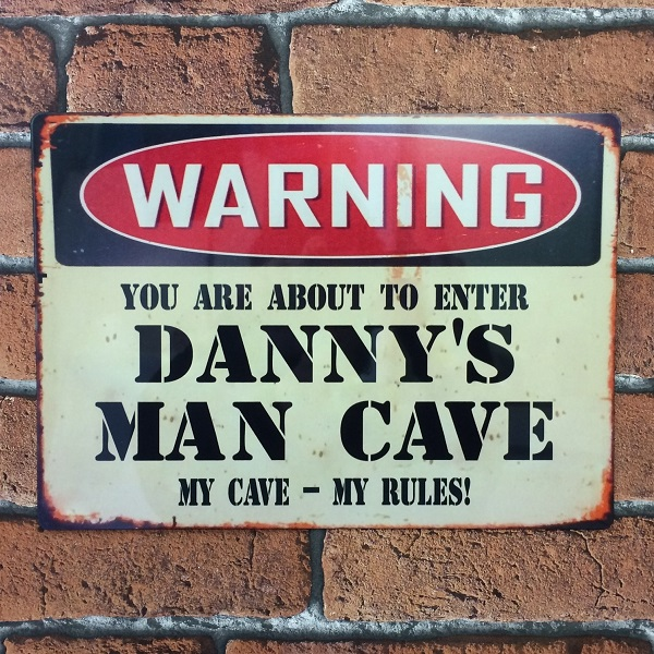 Man Cave Vintage Signs : Man cave vintage metal sign personalised