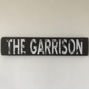 Peaky Blinders TV series The Garrison wood sign
