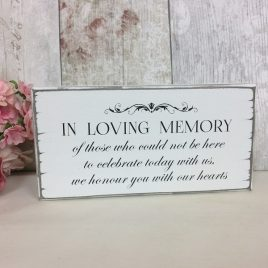 Remembrance Sign In Loving Memory