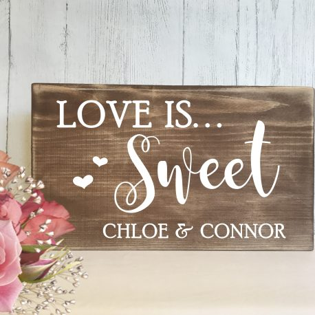 Love is Sweet Wedding Candy Bar Sweet Table Candy Cart Sign