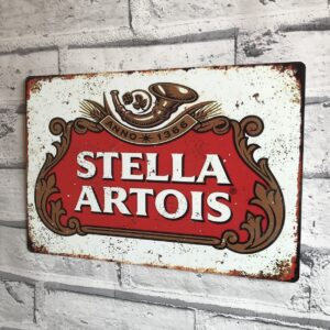 Steela Artois vintage metal sign