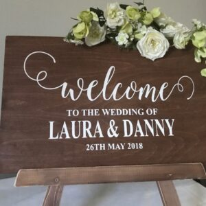 wedding-welcome-sign-rustic