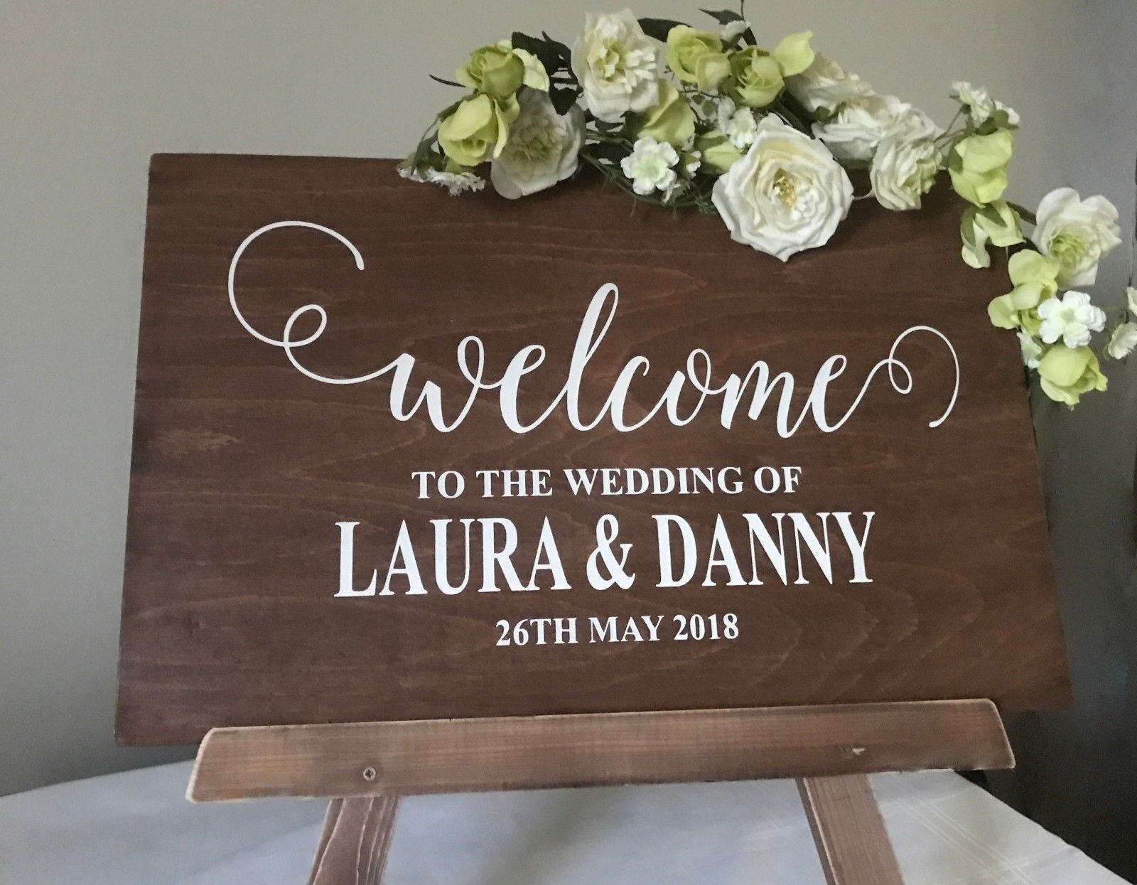 Wedding Welcome Sign.Wedding Welcome Sign Personalised Rustic Wooden Wedding Decoration