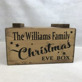 christmas eve box wooden personalised